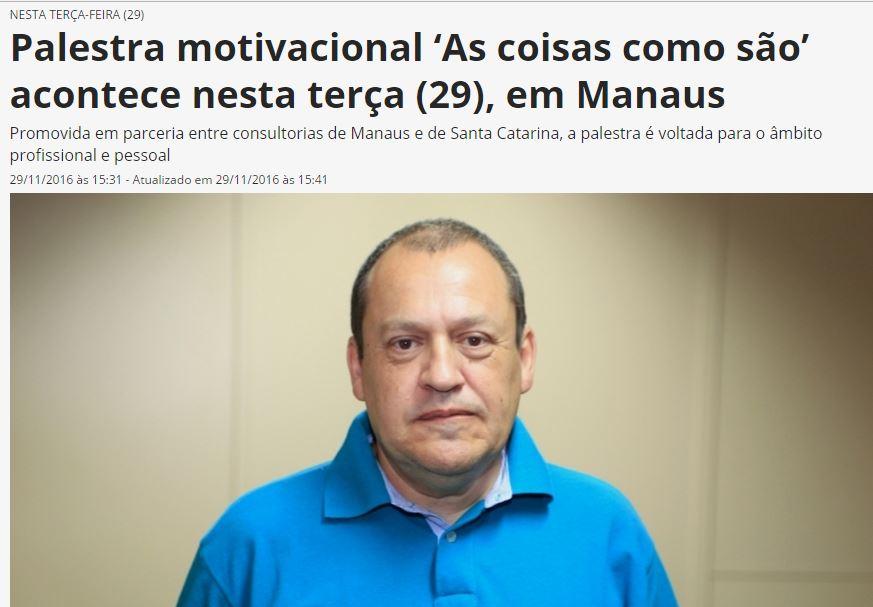 Dutra Consultoria Jornal Sobre A Palestra Em Manaus 291116